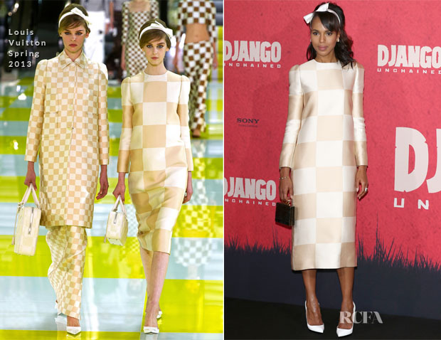 Kerry Washington In Louis Vuitton - 'Django Unchained' Berlin Photocall