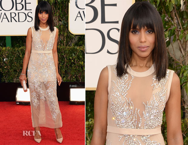 Kerry Washington In Miu Miu - 2013 Golden Globe Awards