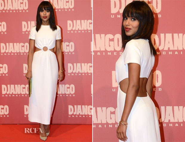 Kerry Washington In Prada - 'Django Unchained' Rome Premiere