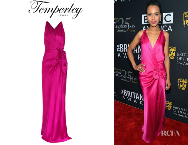 Kerry Washington's Temperley London Delilah Bow Front Gown