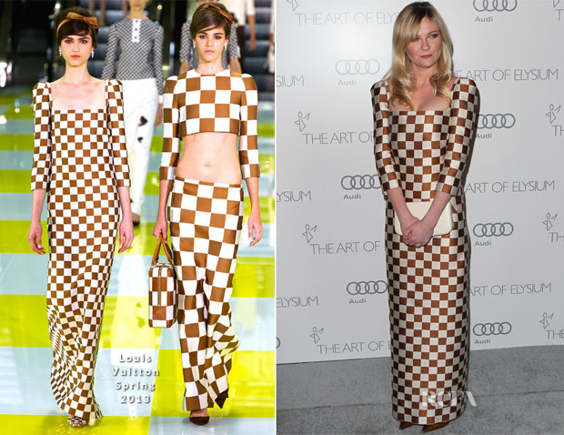 Kirsten Dunst In Louis Vuitton - 2013 Art of Elysium 'Heaven' Gala