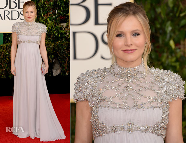 Kristen Bell in Jenny Packham - 2013 Golden Globe Awards