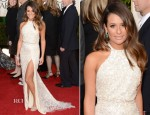Lea Michele In Elie Saab - 2013 Golden Globe Awards