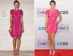Lea Michele In Elie Saab - 2013 People's Choice Awards