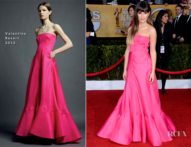 Lea Michele In Valentino - 2013 SAG Awards
