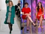 Lena Dunham In Marni & Allison Williams In Oscar de la Renta - The Today Show