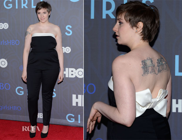 Lena Dunham In Valentino - 'Girls' Season 2 Premiere