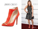 Maria Menounos' Jimmy Choo 'Time' T-Strap Sandals