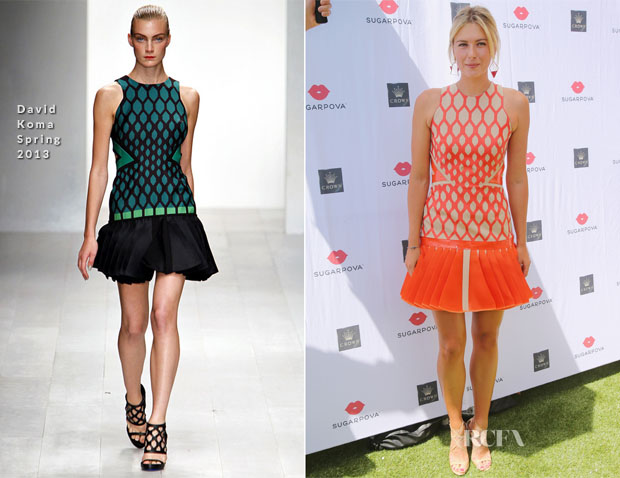 Maria Sharapova In David Koma - 'Sugarpova' Melbourne Launch