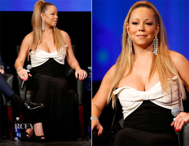 Mariah Carey In Valentino - 'American Idol' Season Premiere Screening