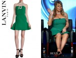 Mariah Carey's Lanvin Strapless Peplum Dress