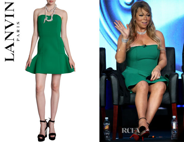 Mariah Carey's Lanvin Strapless Peplum Dress1