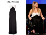 Mariah Carey's Valentino Bow Bodice Gown