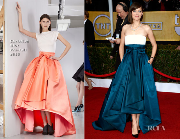 Marion Cotillard In Christian Dior -  2013 SAG Awards
