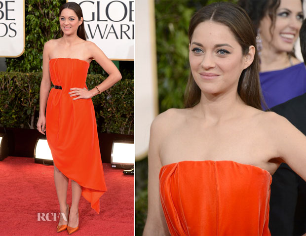 Marion Cotillard In Christian Dior Couture - 2013 Golden Globe Awards