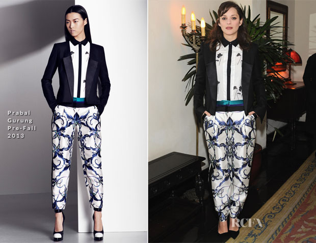 Marion Cotillard In Prabal Gurung - W Magazine Celebrate The Golden Globes