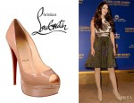 Megan Fox's Christian Louboutin Lady Peep Leather Pumps