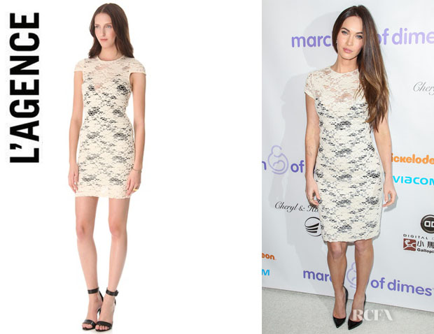 Megan Fox's L'Agence Cap Sleeve Dress