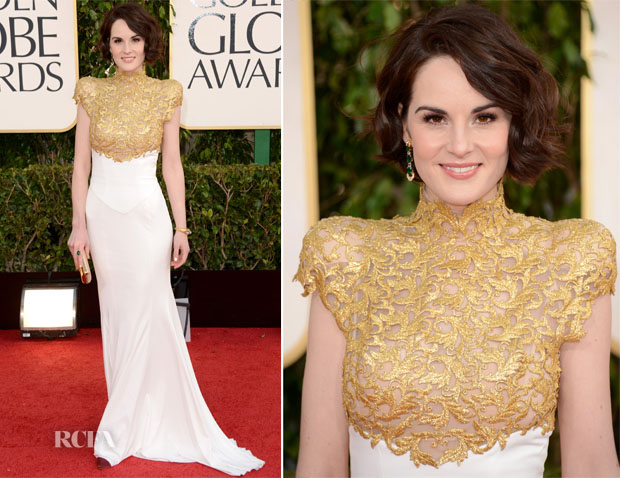 Michelle Dockery In Alexandre Vauthier Couture - 2013 Golden Globes