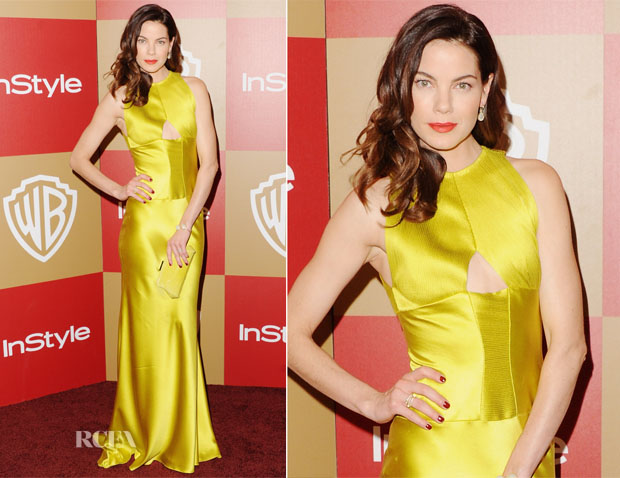 Michelle Monaghan In Vera Wang - Warner Bros And InStyle Golden Globe Awards After Party