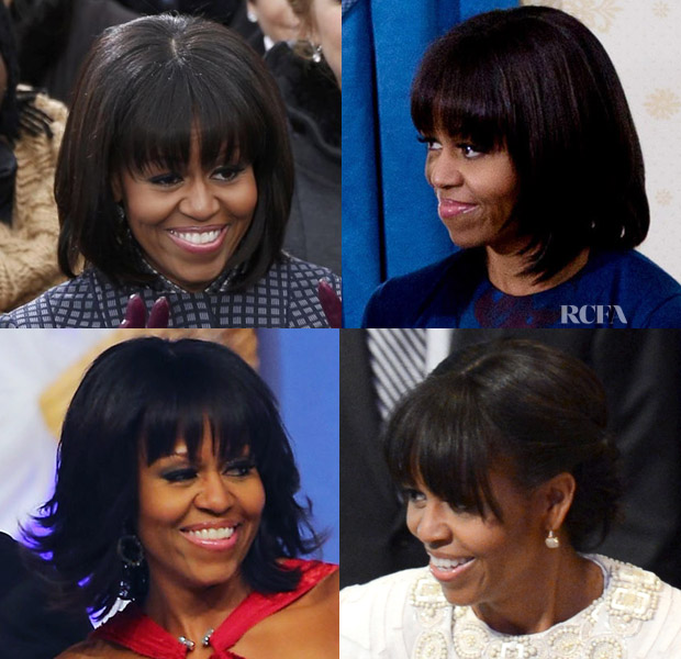 Michelle Obama's Second Term Bangs