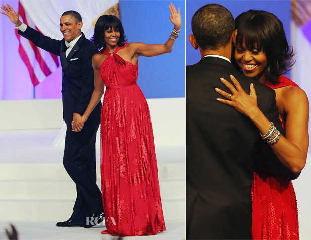 Michelle Obama In Jason Wu - Public Inaugural Ball