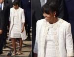 Michelle Obama In Naeem Khan - National Prayer Service
