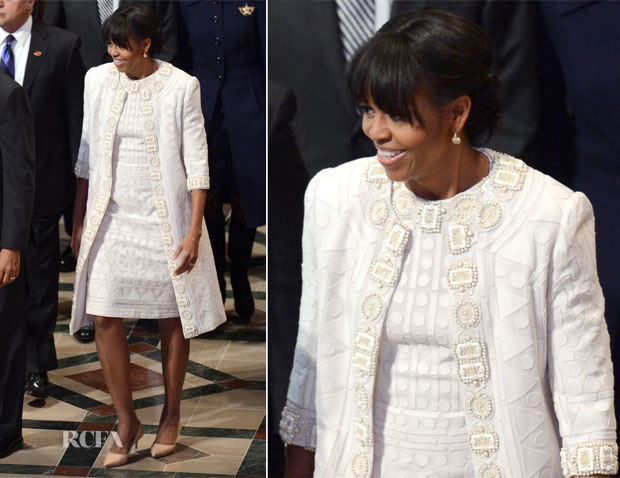 Michelle Obama In Naeem Khan - National Prayer Service