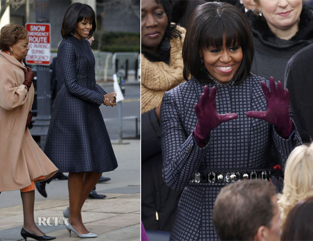 Michelle Obama In Thom Browne - St John's Church