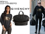 Miley Cyrus' Brian Lichtenberg Homies Sweatshirt And Givenchy Nightingale Satchel