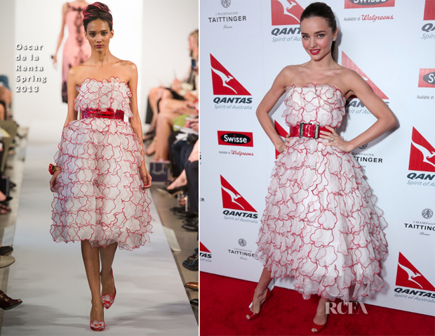 Miranda Kerr In Oscar de la Renta - Qantas Spirit of Australia Party