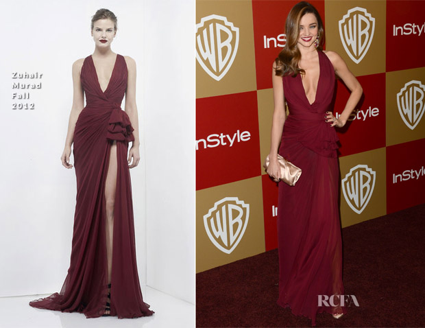 Miranda Kerr In Zuhair Murad - Warner Bros And InStyle Golden Globe Awards After Party