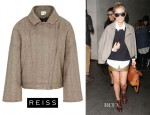Mollie King's Reiss 'Bailey' Cropped Bomber Jacket