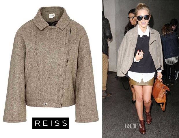 Mollie King's Reiss Cropped Jacket