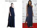 Naomie Harris' Maison Martin Margiela One Shoulder Asymmetric Gown
