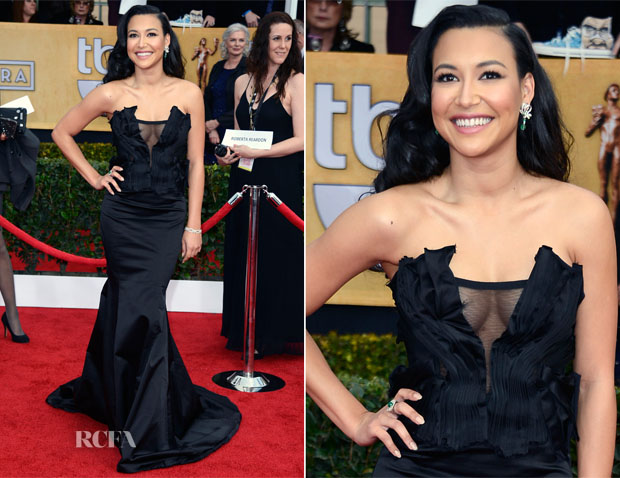Naya Rivera In Donna Karan Atelier - 2013 SAG Awards