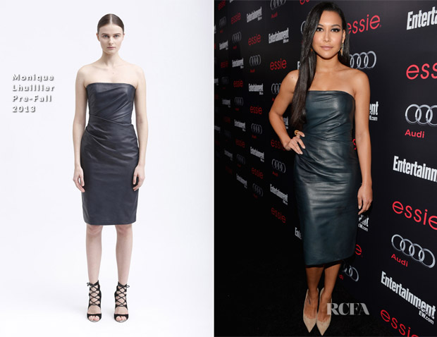 Naya Rivera In Monique Lhuillier - The Entertainment Weekly Pre-SAG Party