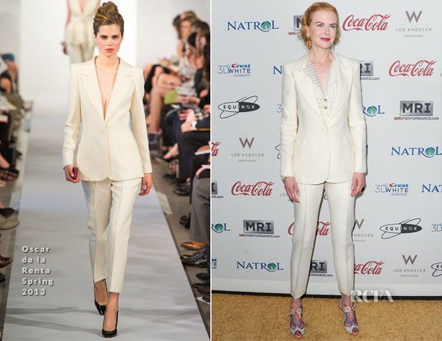 Nicole Kidman In Oscar de la Renta - Gold Meets Golden