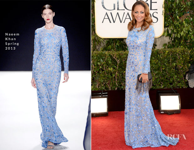 Nicole Richie In Naeem Khan - 2013 Golden Globe Awards