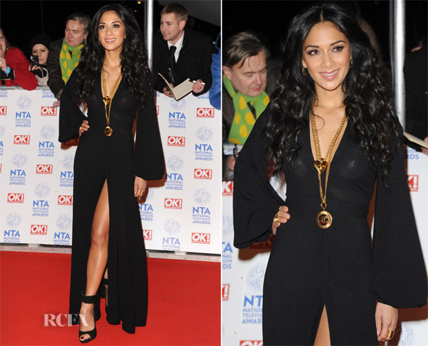 Nicole Scherzinger In Vintage Ossie Clark - 2013 National Television Awards