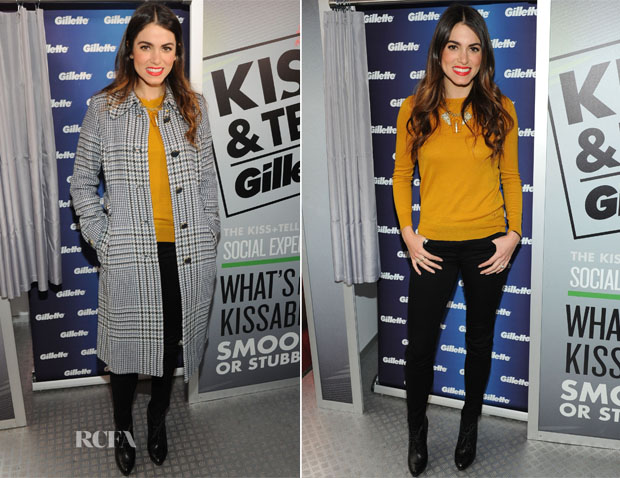 19875b34505e Nikki Reed was on hand to help Gillette celebrate its  Kiss   Tell  event  yesterday in Times Square