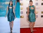 Nina Dobrev In Monique Lhuillier - 2013 Critics' Choice Movie Awards