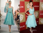 Nina Dobrev In Oscar de la Renta - Warner Bros. And InStyle Golden Globe Awards After Party