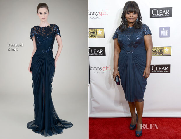 Octavia Spencer  In Tadashi Shoji - 2013 Critics' Choice Movie Awards