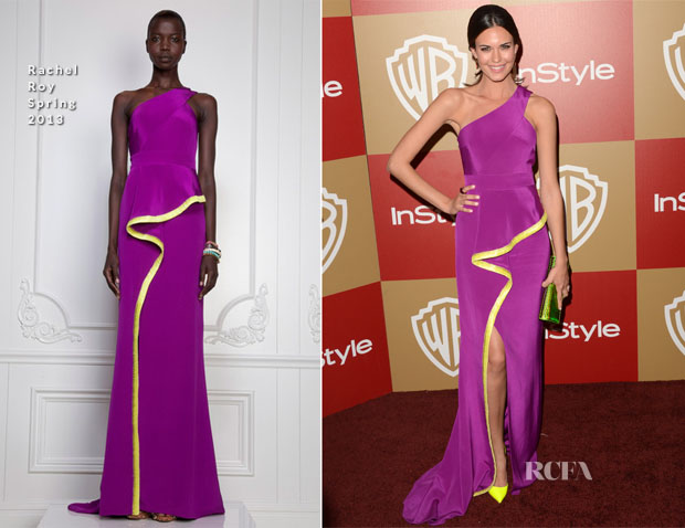 Odette Annable In Rachel Roy - Warner Bros And InStyle Golden Globe Awards After Party