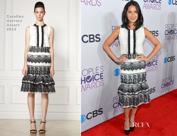 Olivia Munn In Carolina Herrera - 2013 People's Choice Awards