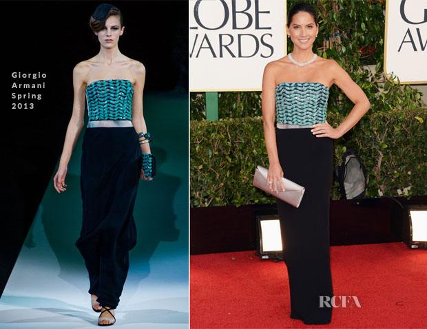 Olivia Munn In Girogio Armani – 2013 Golden Globe Awards