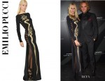 Poppy Delevingne's Emilio Pucci Hand Painted Dragon Dress