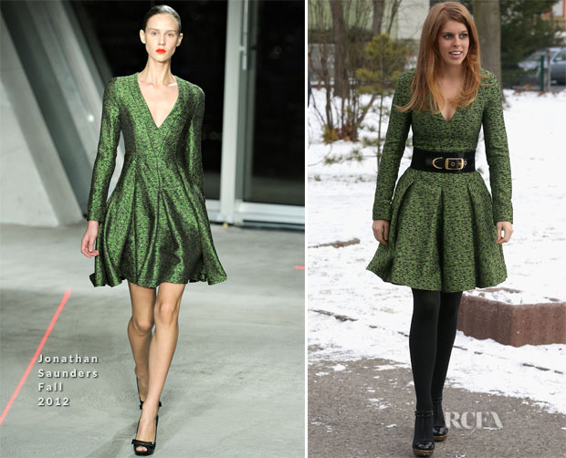 Princess Beatrice In Jonathan Saunders - Berlin Visit