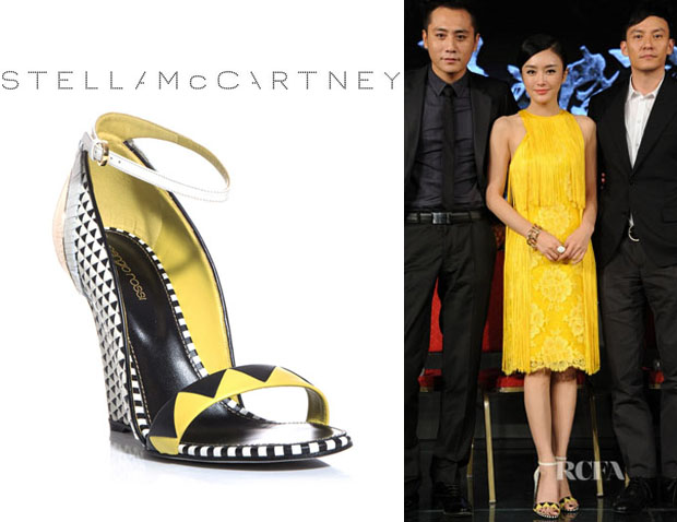 Qin Lan's Stella McCartney Clash Tri Colour Wedge Sandals
